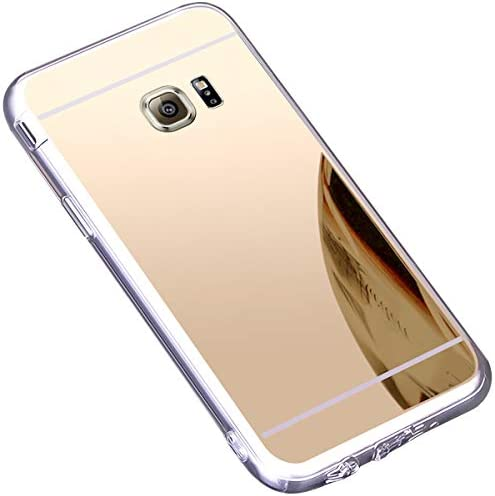 Coque Galaxy S7 Edge,Miroir Housse Coque Silicone TPU pour Samsung Galaxy S7 Edge,Surakey Bling Briller Diamond Coque Miroir Etui TPU Téléphone Coque ...