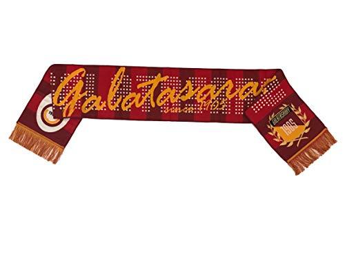 YSN Home Collection Offizielle Galatasaray GS Fußball-Fan Schal 20 x 147 cm - mit Fransen
