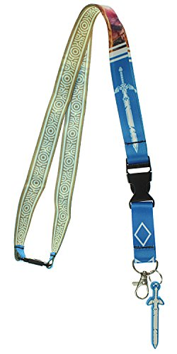 Zelda Breath of The Wild Lanyard with 3D Rubber Charm ID Card Holder...