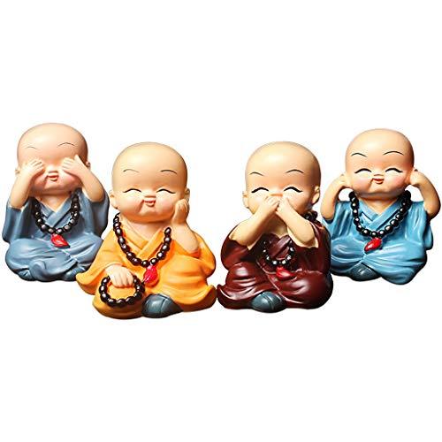 Cuatro no es pequeño monje Adornos coches Coche Zen
