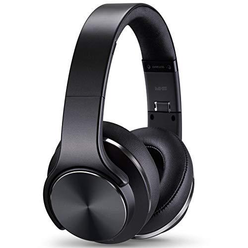 Ulian MH5 Gaming Headphones & Loudspeaker,Wireless Bluetooth Headphones Over-Ear Headphones Noise Cancelling Headphones,24 Hours Playtime,3 Modes for Travel/Work, Black
