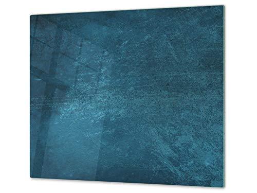 Planche à découper en verre trempé et couvre-cuisinière – Résistant à la chaleur et aux bactéries – UNE PIÈCE (60x52 cm) ou DEUX PIÈCES (30x52 cm chacune); D10A Série Textures: Texture 91