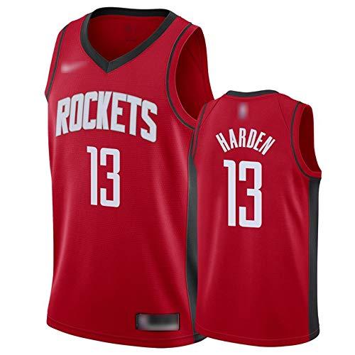 ATI-HSKJ Herren-Basketball-Trikots # 13 James Harden Rot Basketball-Spiel Fans Uniform Westen Retro Breath Sleeveless T-Shirt Jersey BH057,L:175cm~180cm