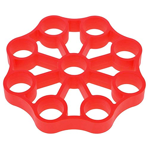 Kaxofang Silicone Egg Rack or Electric Pressure Cookers - Holds 9 Eggs for Easy Cooking Of Perfect Hard or Soft Boiled Eggs