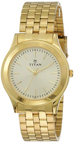 Titan Analog Gold Dial Men's Watch NM1648YM02 / NL1648YM02
