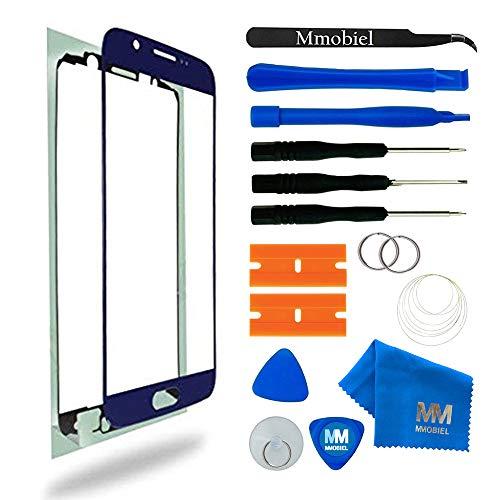 MMOBIEL Kit de Reemplazo de Pantalla Táctil Compatible con Samsung Galaxy S6 G920 Series (Blue) Incluye Pantalla de Vidrio Cinta Adhesiva Kit de Herramientas Limpiador de Microfibra Alambre Metálico