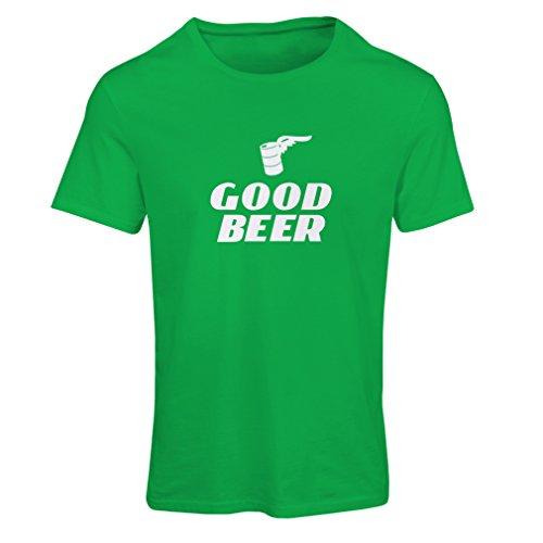 lepni.me Frauen T-Shirt Ich Brauche EIN gutes Bier, Geschenk für Bierliebhaber Partykleidung (Small Grün Weiß)