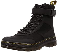 Hommes Dr Martens Combs Tech Noir Nylon Su�de Durable Mode Bottines