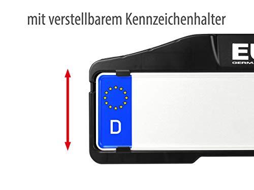 EUFAB 11521 Heckträger Premium ll für Anhängekupplung, für E-Bikes geeignet - 6