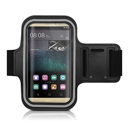 CoverKingz Sportarmband für Huawei P10 - Armtasche mit Schlüsselfach Huawei P10 - Sport Laufarmband Handy Armband Schwarz