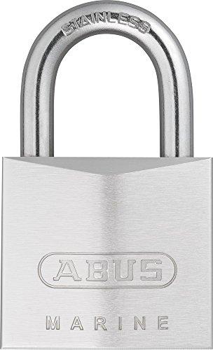 ABUS Marine Vorhängeschloss 75IB/40 - wetterfest - Messing-Schlosskörper mit Nickel Pearl Beschichtung - ABUS-Sicherheitslevel 6 - Silber