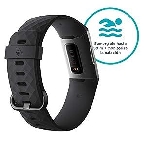 Fitbit Charge 3 Pulsera Avanzada de Actividad física, Unisex Adulto, Grafito/Negro, Talla única