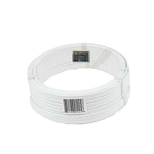 Novelty Lights 100 Foot Zip Cord Wire, White, 18 Gauge, SPT-1