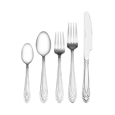International Silver Mirage Frost 20-Piece Stainless Steel Flatware Set, Service for 4