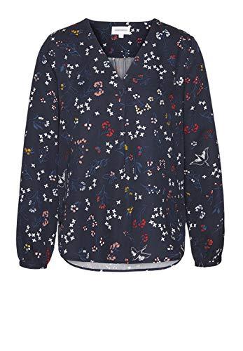 ARMEDANGELS Damen Bluse aus Tencel™ Lyocell - FELICITAAS Wood + Willow - S Dark Navy 100% Lyocell (Tencel™) Bluse Langarm Langarm V-Neck