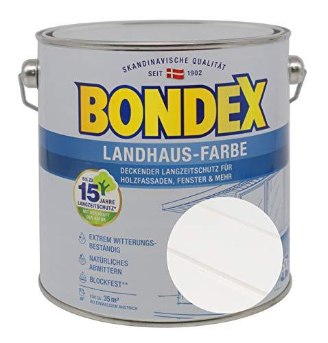 Bondex Landhaus-Farbe 2,50l weiss - 391307