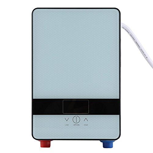 Zerodis 6500W elektronisch gesteuerter Durchlauferhitzer druckloser Kleinspeicher elektronischer Durchlauferhitzer mit Duschkopf für Badezimmer Dusche