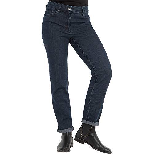 Zerres Damen Jeans CORA Straight Fit, Größe:38, Farbe:69 MARINENAVY
