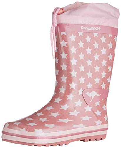 KangaROOS Unisex Kinder K-Rain Regenschuh, Dusty Rose/Frost Pink, 25 EU