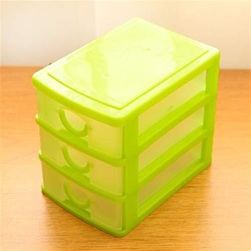 Bandejas de byolpmkkstorage Práctica caja de almacenamiento de escritorio de DIY desmontable Transparente Caja de almacenamiento de plástico Joyería Organizador Gabinetes para objetos pequeños Gadgets