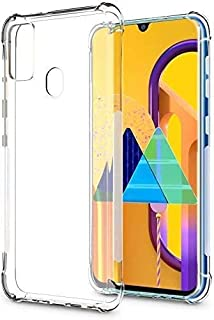 MARGOUN for Samsung M31 Case, [Bumper] Exculsive Silicon Transparent with Anti Dust Plugs Shockproof Slim Back Cover