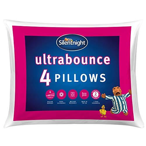 Silentnight Ultrabounce Kissen, weiß, Microfaser, weiß, 4 Stück