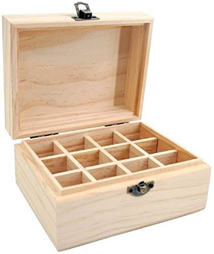 Fulinmen Holz Essential Oil Storage Box Öl-Flaschen-Organisator-Fall hält 12 Flaschen von 5 ml, 10 ml, 15ml (Size : Type-A)