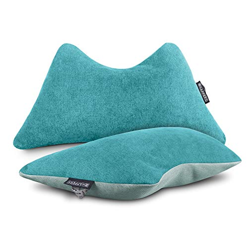 HAPPERS Pack 2 Cojines The Cushion Revolution Turquesas para el Descanso Lumbar y Cervical.