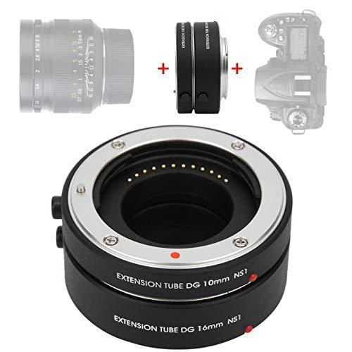 DAUERHAFT Adaptador de Objetivo Macro de aleación de Aluminio, para cámara con Montura Nikon 1