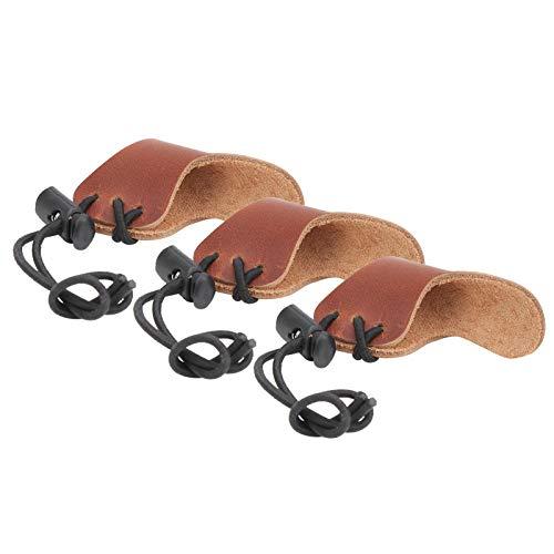 Keenso Protector de Dedos Tiro con Arco, 3 Piezas, Resistente al Desgaste, cómodo, Protector de Arco, Protector de Arco Ligero, Equipo de protección