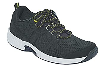 Orthofeet Proven Plantar Fasciitis Foot and Heel Pain Relief Extended Widths Orthopedic Walking Shoes Diabetic Bunions Women's Sneakers Coral Black