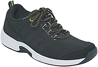 Orthofeet Proven Plantar Fasciitis, Foot and Heel Pain Relief. Extended Widths. Orthopedic Walking Shoes Diabetic Bunions Women's Sneakers, Coral Black