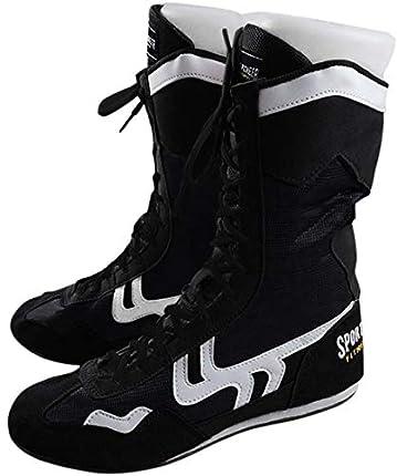 Alto Top Zapatos de Boxeo Boxeador Botas para Hombres Mujeres Niños