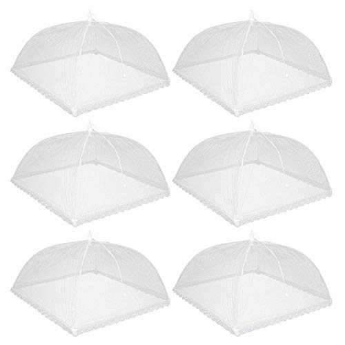 Pop-Up Mesh Food Cover Tent, Picnic Dome 17 Inches Large Food Protector Net Umbrellas Reusable and Collapsible Outdoor Table Cover for Flies, Parties Picnics, BBQ Party in Garden