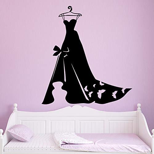 mlpnko Señoras Vestido de Noche Papel Pintado Decoración del hogar Etiqueta de la Pared Dormitorio Armario 30x32cm