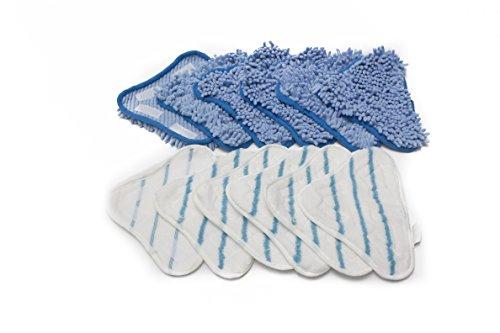 LTWHOME Ersatz-Pads Mikrofaser Mop Pads und Coral Mikrofaser Mop Pads Serie geeignet für Steam Mop X5 (Packung mit 12)