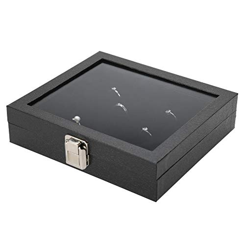 Ring Display Tray, Schmuck Ring Display Organizer Aufbewahrungsbox mit 36 Slot Ring Display