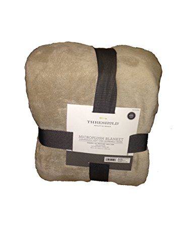 Threshold Microplush Blanket King Size Brown Linen Color 108...