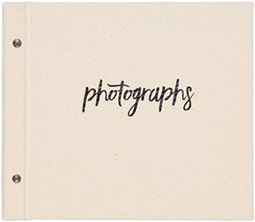 C.R. Gibson Natural Cloth 'Photographs' Memory Book and Photo Album, 25 Photo Sheets, 10' W x 9' H