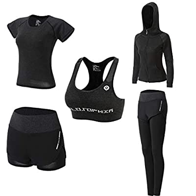 Sport Workout Outfit Set for Women Yoga Fitness Exercise Clothes