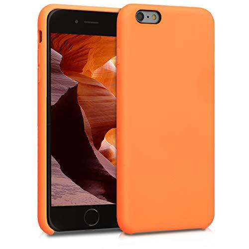 kwmobile Custodia Compatibile con Apple iPhone 6 Plus / 6S Plus - Cover in Silicone TPU - Back Case per Smartphone - Protezione Gommata Mandarino