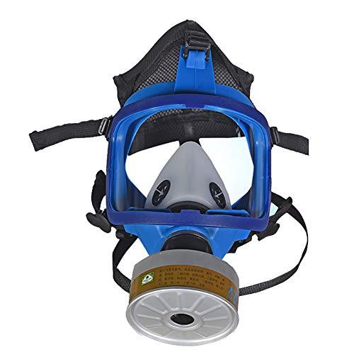 Maschera Antigas A Filtro Autoadescante Respiratore Pieno Facciale Protezione Respiratore di Sicurezza Professionale per Vernice Polvere Prodotti Chimici Militare,Set b