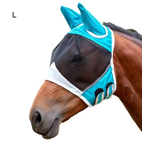 Horse Fly Mask,Atmungsaktive Pferdemaske Mit Ohrenmaske Gegen Mückenpferde Fliegenmaske Pferd - Anti-Moskito-Pferdemaske für Erwachsene und Kinder