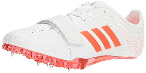 adidas Adizero Accelerator Track Shoe, White/Infrared/Metallic/Silver, 13 M US