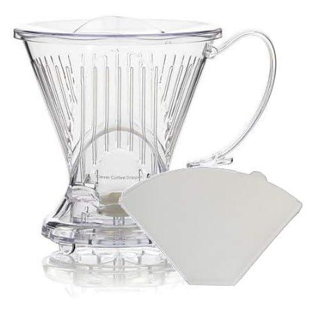 Clever - Goteador de café con filtros adicionales incluidos (transparente)