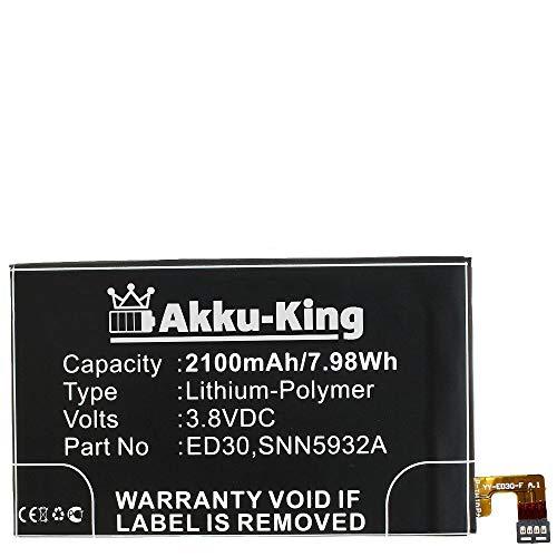 Akku-King Akku kompatibel mit Motorola ED30, SNN5932A - Li-Polymer 2100mAh - für Moto G T1028, T1028PP, XT1031, XT1032, XT1033, XT1036