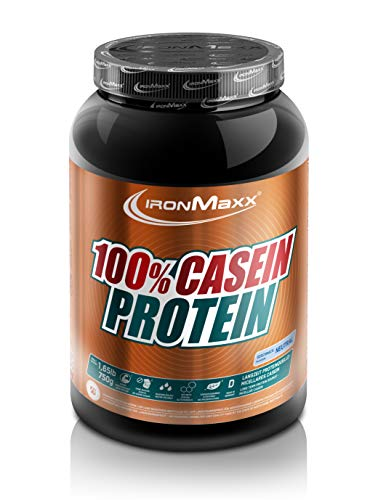 IronMaxx 100% Casein Protein, Neutral – Caseinpulver für den Muskelerhalt mit Langzeiteffekt – Muskelaufbau Pulver für die Definitionsphase – 1 x 750 g Pulver