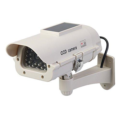 Silverline 614458 Solarbetriebene Überwachungskamera-Attrappe mit LED-Licht Solarbetrieben