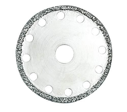 Proxxon Diamentierte Trennscheibe (Schleifscheibe ø 50 mm, Lochung 10 mm, für Glas, Porzellan, Fliesen, für Winkelschleifer LHW/A) 28558