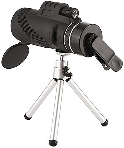 BAK4 Monocular Compacto: telescopio monocular con Zoom de Alta Potencia, 8 Telescopio con Lente de Zoom de Aumento de Alta definición, con Adaptador para teléfono Inteligente, trípode,
